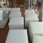 Sewa sofa puff chair putih